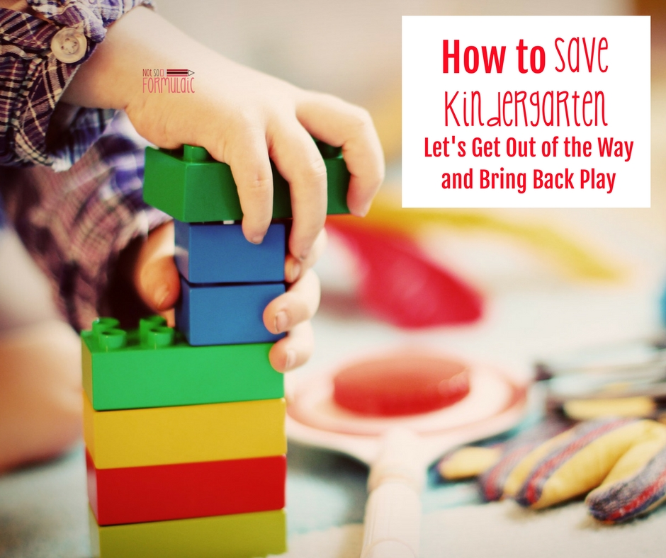 Savekindergarten - Saving Kindergarten: Let's Get Out Of The Way And Bring Back Play - Gifted/2e Education