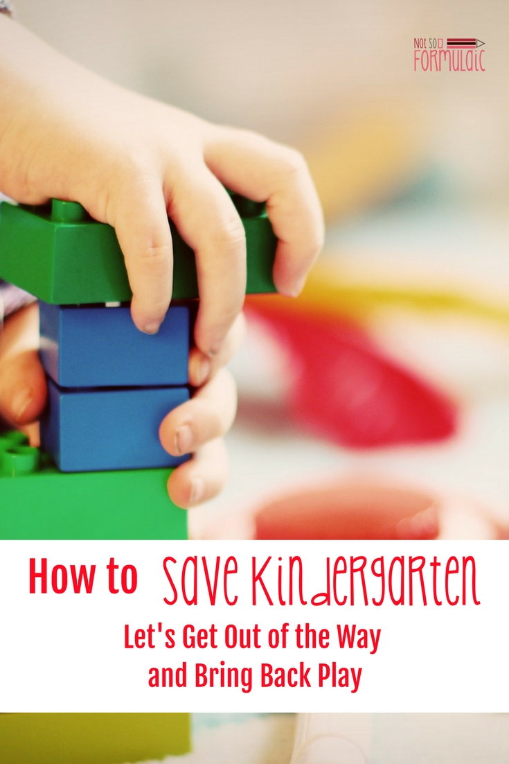 Savekindergartenapin - Saving Kindergarten: Let's Get Out Of The Way And Bring Back Play - Gifted/2e Education