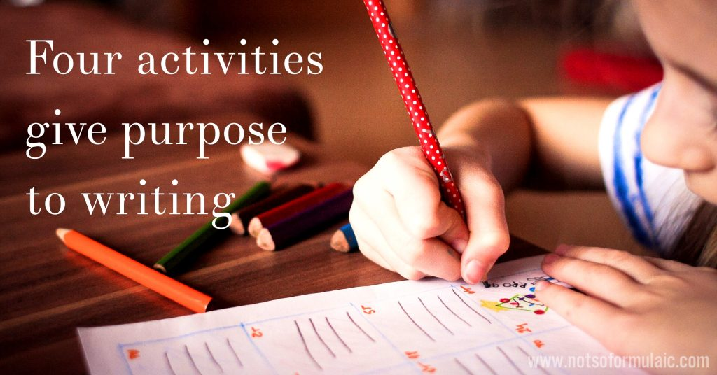 Four Activities Give Purpose To Writing - Four Activities To Give Purpose To Writing - Gifted/2e Faith Formation