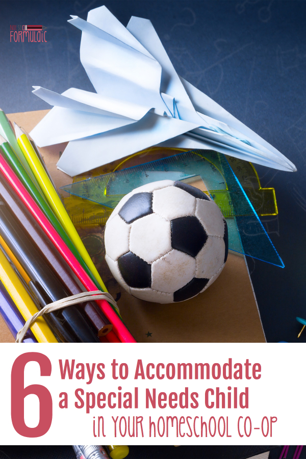 6 Ways To Accommodate Special Needs Pin - Six Tips For Accommodating The Special Needs Child In Your Homeschool Co-op - Gifted/2e Education