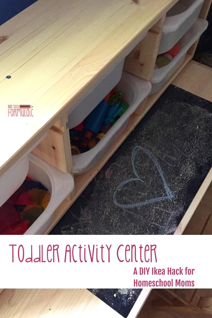 Toddler Activity Center Pin - Toddler Activity Center - A Diy Ikea Hack For Homeschool Moms - Gifted/2e Education