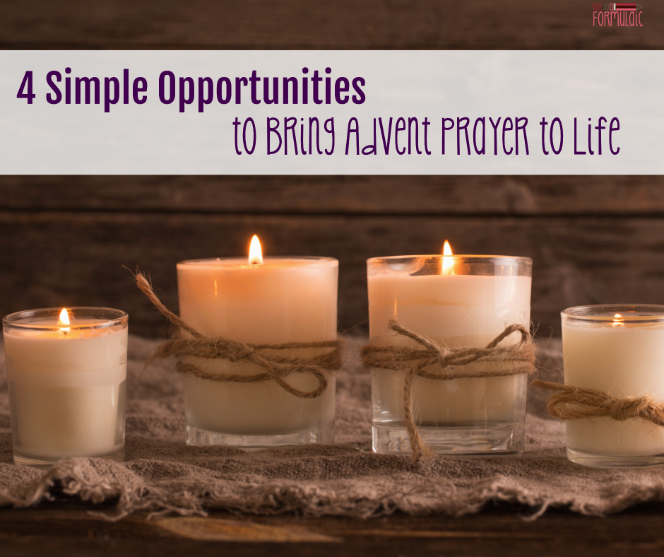 Adventprayerfb - Four Simple Opportunities That Bring Advent Prayer Time To Life (5 Days Of Advent Traditions For Catholic Families) - Gifted/2e Faith Formation