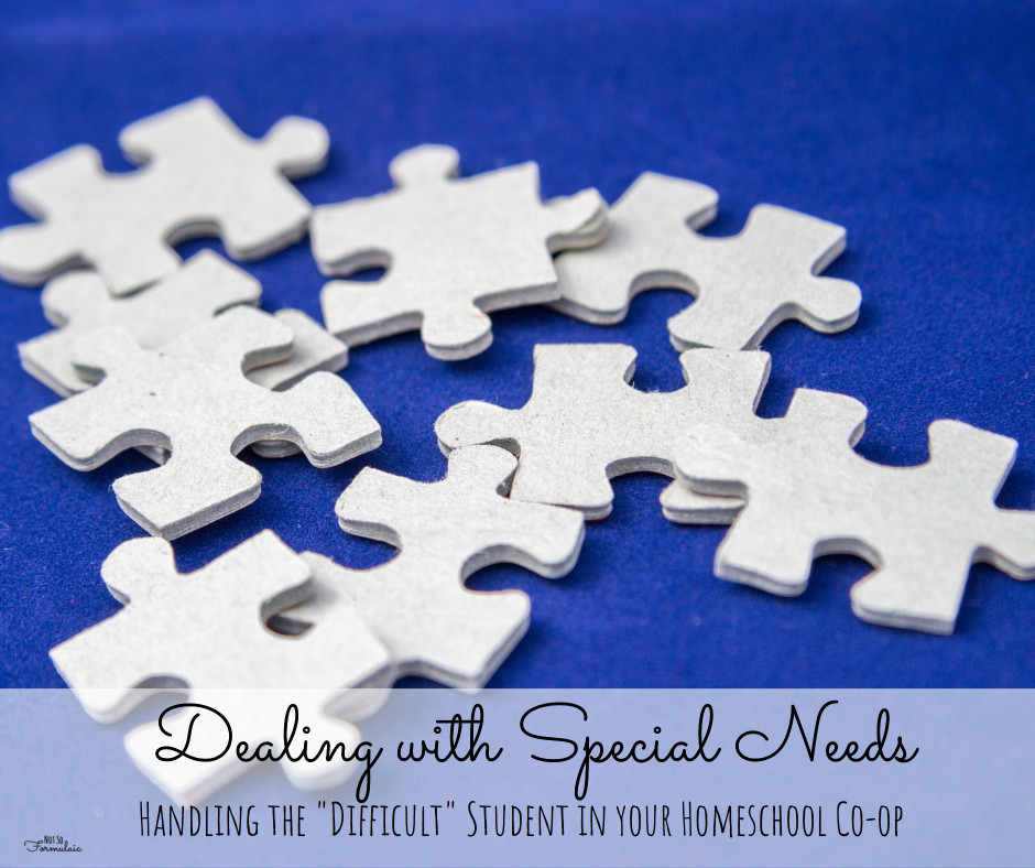"""Special Needs - Dealing With Special Needs: How To Handle The """"difficult"""" Student In Your Homeschool Co-op - Gifted/2e Education"""