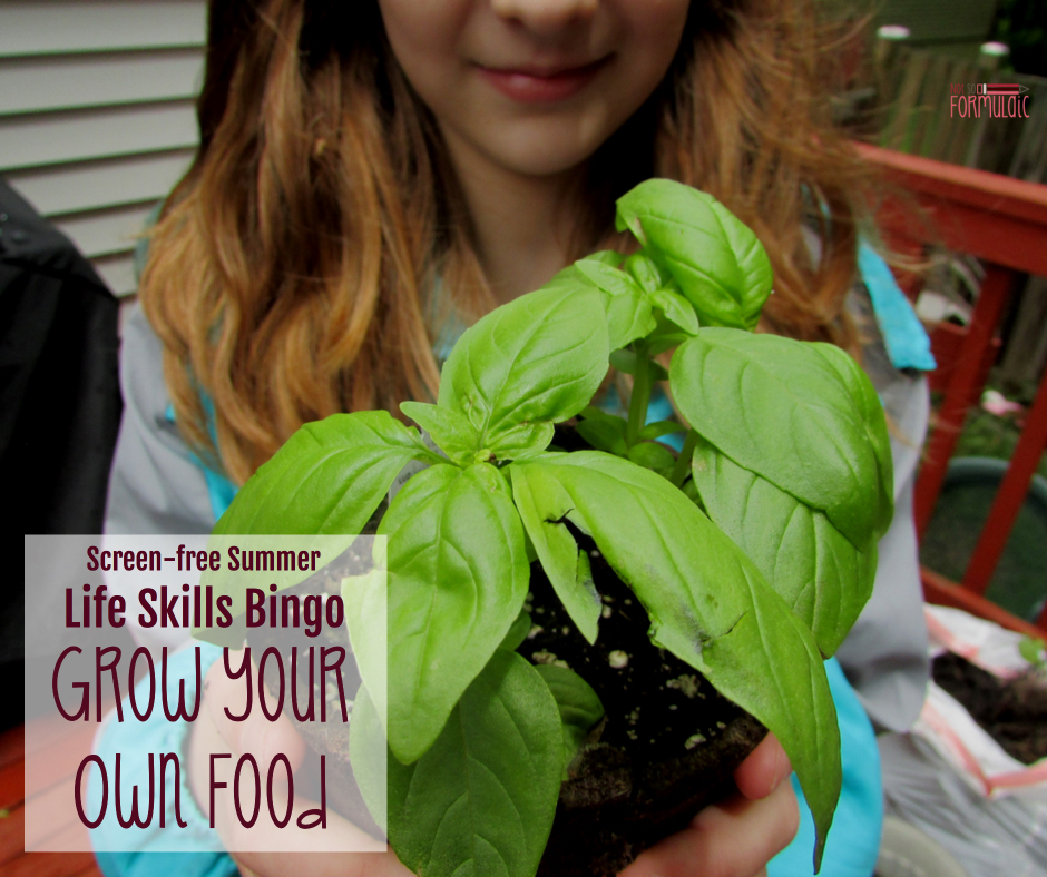 Gyof - Screen-free Summer Life Skills Bingo: Grow Your Own Food - Gifted/2e Parenting