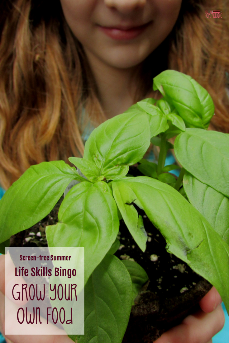 Want A Screen Free Summer Join Our Life Skills Bingo Series And Learn To Grow Your Own Food - Screen-free Summer Life Skills Bingo: Grow Your Own Food - Gifted/2e Parenting