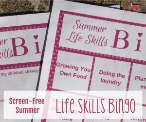 Lifeskillsbingofb - Have A Screen-free Summer With Life Skills Bingo - Gifted/2e Parenting