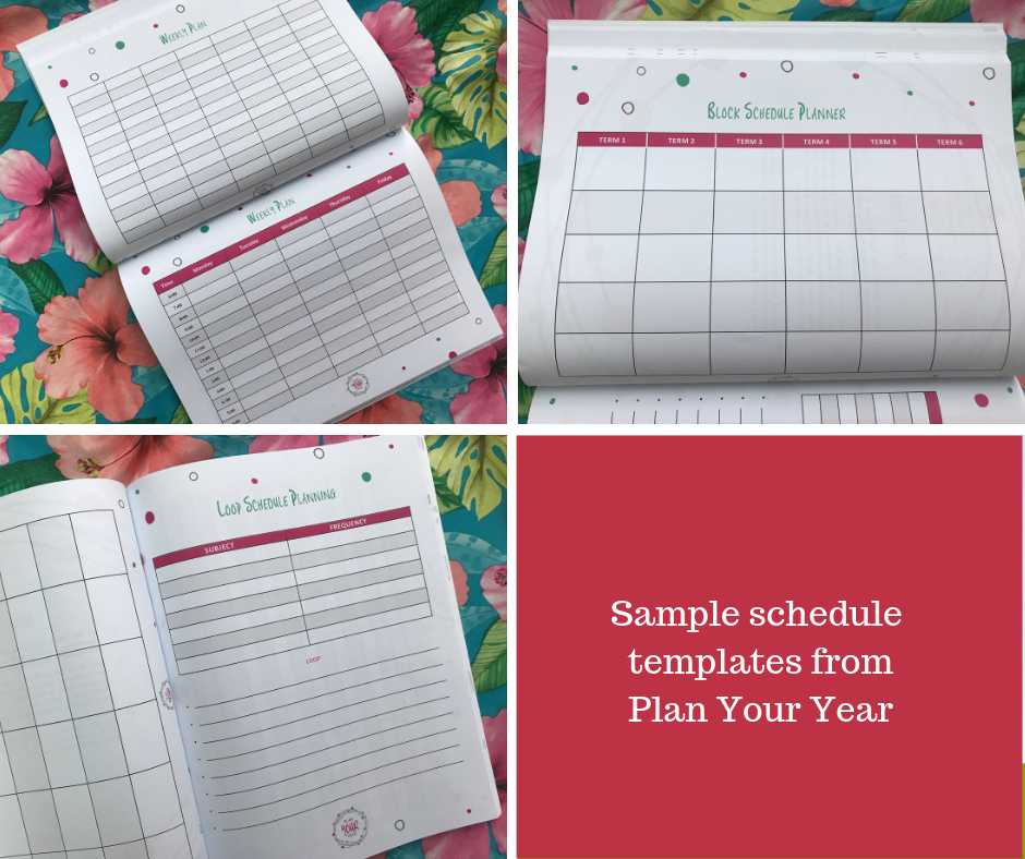 Sample Schedule Templates From Plan Your Year - How To Homeschool The Differently-wired With Purpose And Peace: Pam Barnhill's Plan Your Year