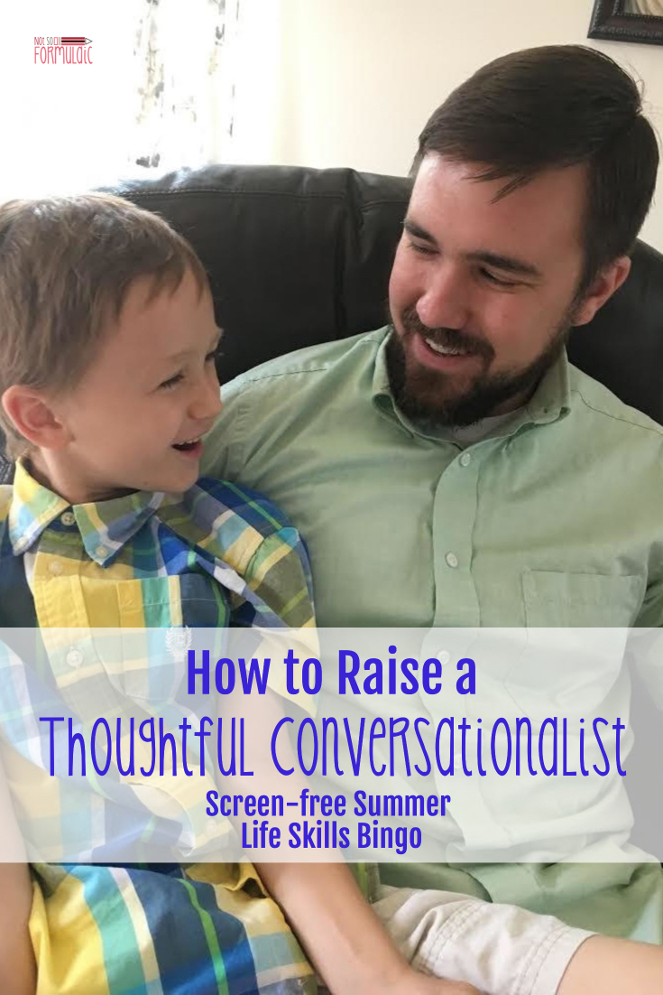 Conversationpin - How To Raise A Thoughtful Conversationalist (screen-free Summer Life Skills Bingo) - Gifted/2e Parenting