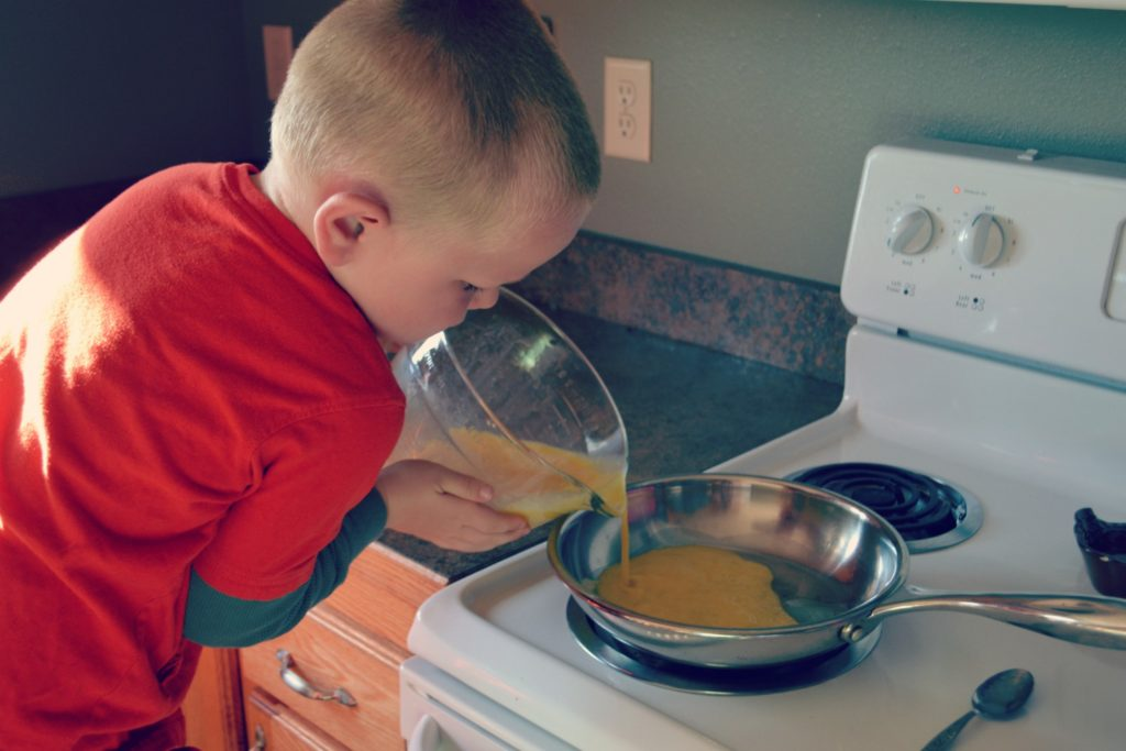 Pouring Eggs - Teach Your Kids To Prepare A Meal (screen-free Summer Life Skills Bingo) - Gifted/2e Parenting