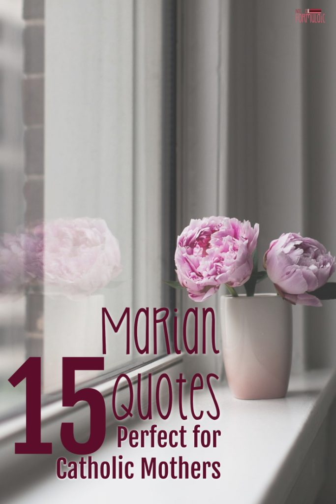 15 Marian Quotes Perfect For Catholic Mothers - Gifted/2e Parenting