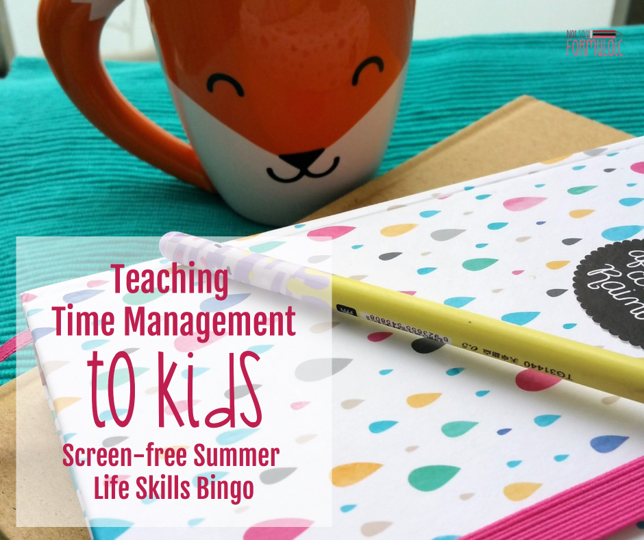 Timemanagement - Teaching Time Management To Kids (screen-free Summer Life Skills Bingo) - Gifted/2e Parenting