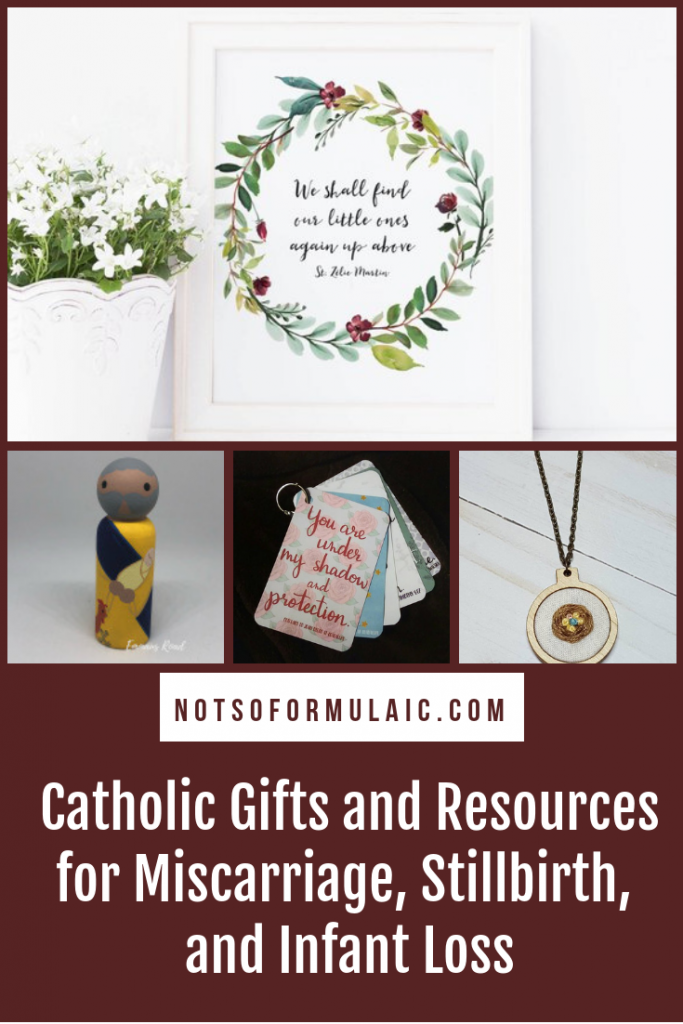 Supporting a friend through miscarriage, stillbirth, or infant loss can be difficult, especially if you don't know where to start. But don't be afraid to reach out to the grieving, as there are a number of beautiful Catholic resources and gifts suitable for commemorating a mother's loss. #miscarriageremembrance #infantlossremembrance #stillbirthremembrance #pregnancyandinfantloss