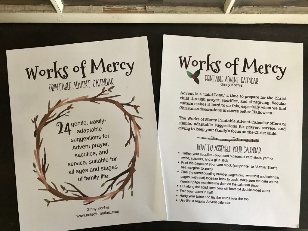 Fullsizeoutput 26db - Works Of Mercy Printable Advent Calendar - Gifted/2e Faith Formation