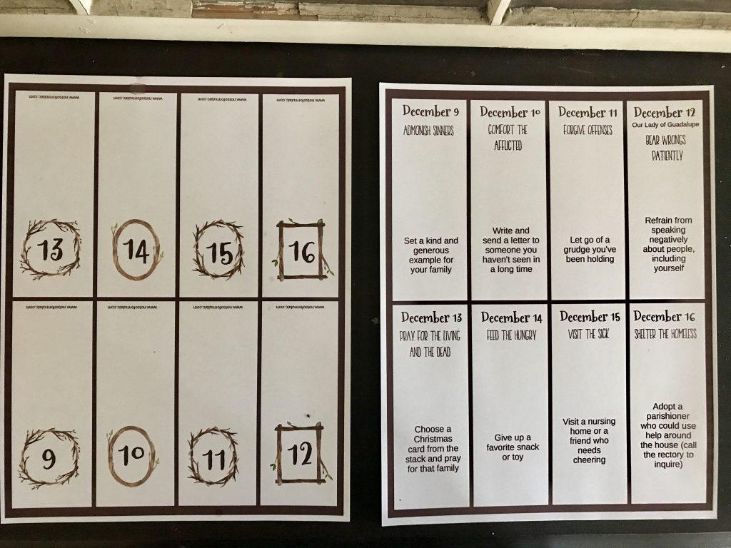 Fullsizeoutput 26dc - Works Of Mercy Printable Advent Calendar - Gifted/2e Faith Formation
