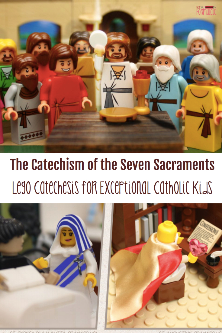 Thecatechismofthesevensacramentspin - Catechism Of The Seven Sacraments: Lego Catechesis For Exceptional Catholic Kids - Gifted/2e Faith Formation