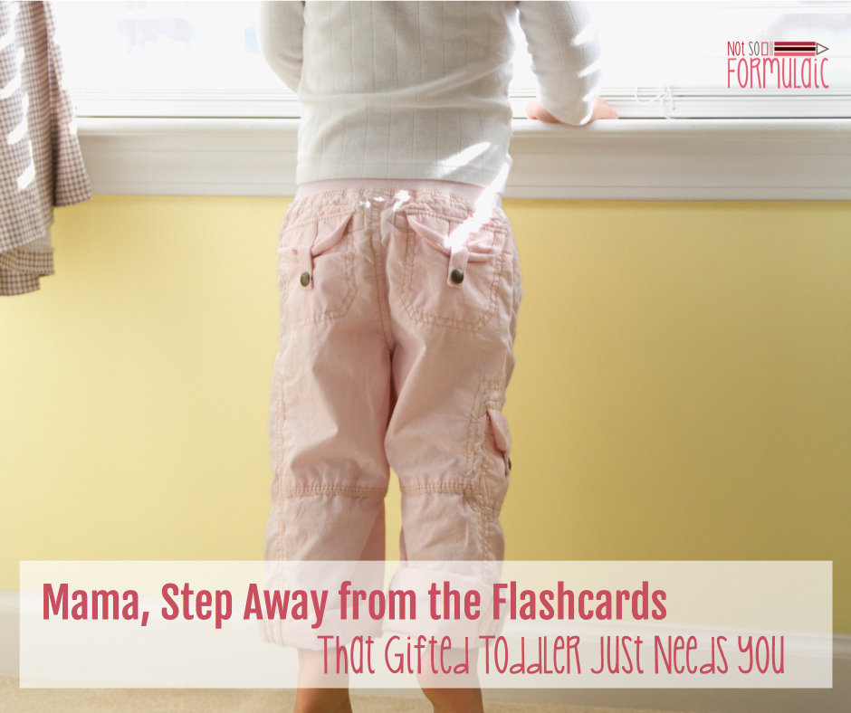 Gifted Toddler - Mama, Step Away From The Flashcards. That Gifted Toddler Just Needs You - Gifted/2e Parenting