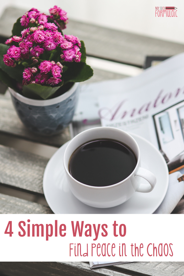 Quiet Time Find Peace 2 - Mom, Your Quiet Time Matters: 4 Simple Ways To Find Peace In The Chaos - Gifted/2e Parenting