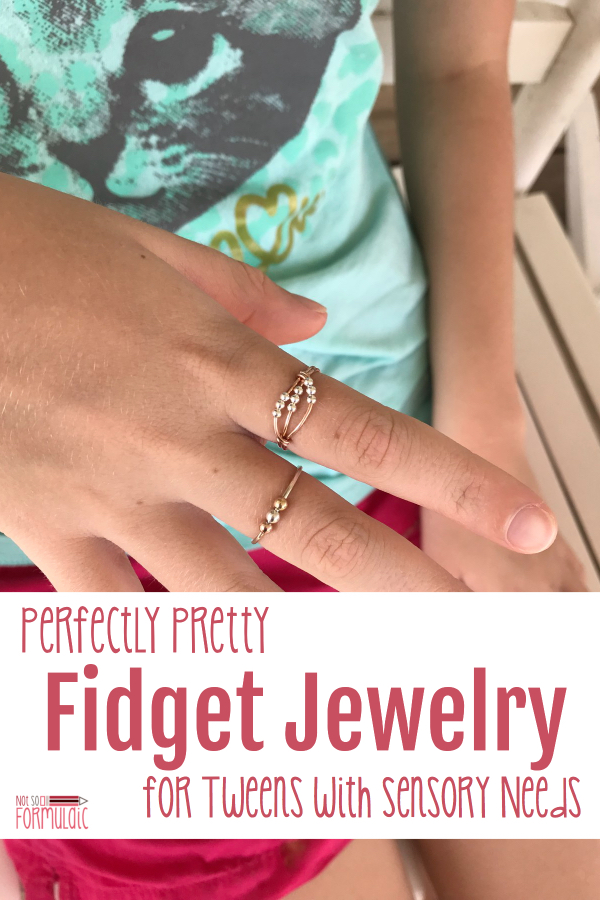 Kids fidget for a variety of reasons - that need for stimulation doesn't change as they grow. If you have a tween with sensory needs or anxiety, check out online retailer Patti+Ricky. They carry fashionable, functional clothing, jewelry, and accessories for people of all abilities.