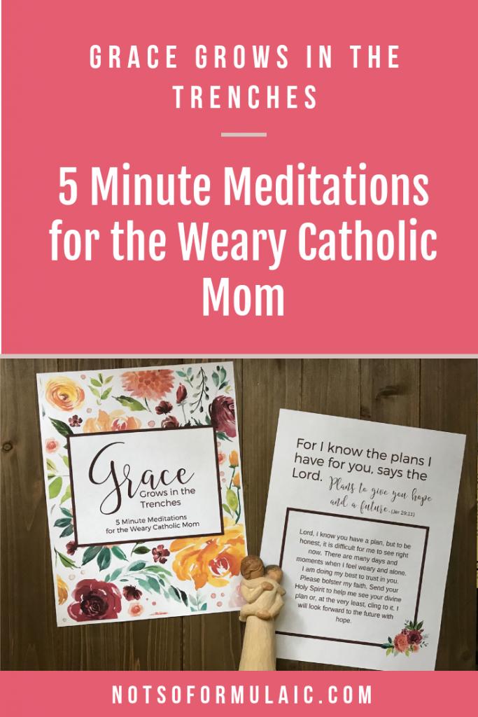 5 Minute Meditations For The Weary Catholic Mom - Catholic Motherhood
