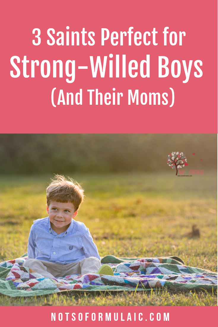 Saints Strong Willed Boys Pin - 3 Saints Perfect For Strong-willed Boys (and Their Moms) - Gifted/2e Faith Formation