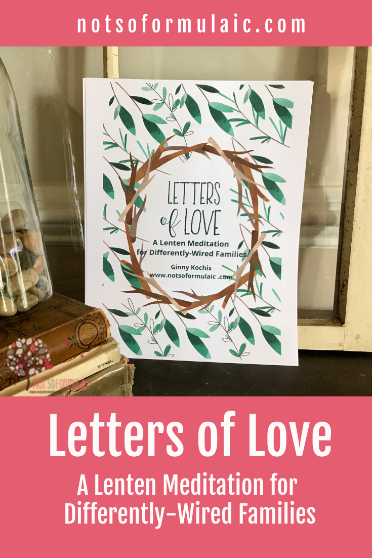 Letters Of Love Pin - Letters Of Love: A Lenten Meditation For Catholic Families