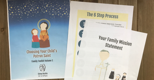 Choosing Your Child 039 S Patron Saint Family Toolkit Volume 1