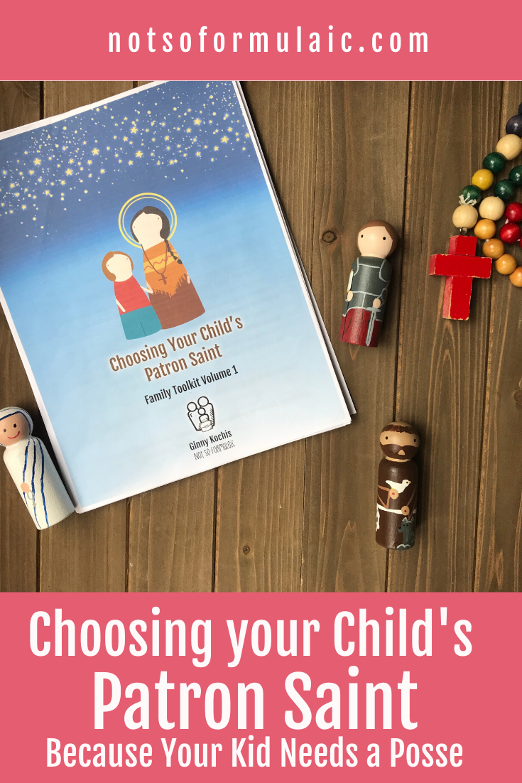 Patron Saint Toolkit Product Pin - Choosing Your Child's Patron Saint (family Toolkit Volume 1)