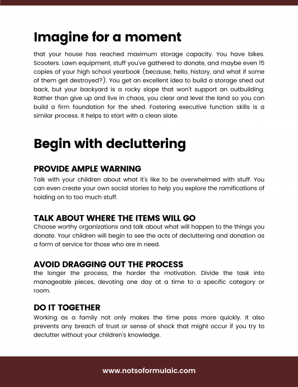 Executive Decisions How To Organize Your Family 039 S Heart Head And Home