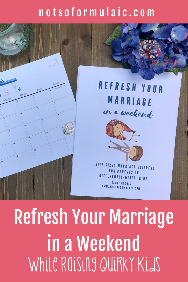 Refresh Your Marriage Product Pin - Refresh Your Marriage In A Weekend: Bite-sized Marriage Builders For Parents Of Differently-wired Kids