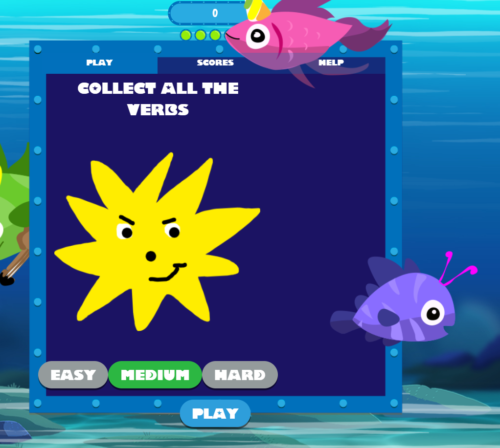 Underwaterwordhuntpartsofspeech - Night Zookeeper: Writing Enrichment For Differently-wired Kids - Gifted/2e Education